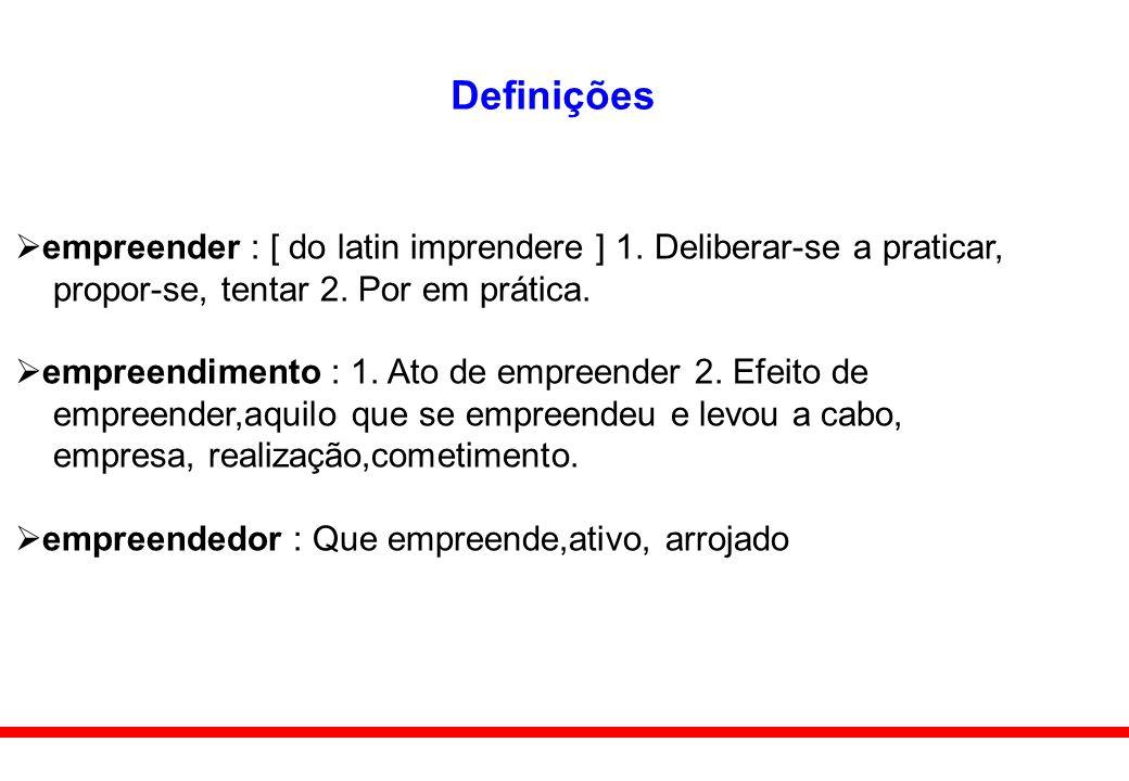 Definições empreender : [ do latin imprendere ] 1. Deliberar-se a praticar, propor-se, tentar 2. Por em prática.